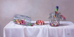 Tarro de Dulces IV by Raquel Carbonell -  sized 24x12 inches. Available from Whitewall Galleries
